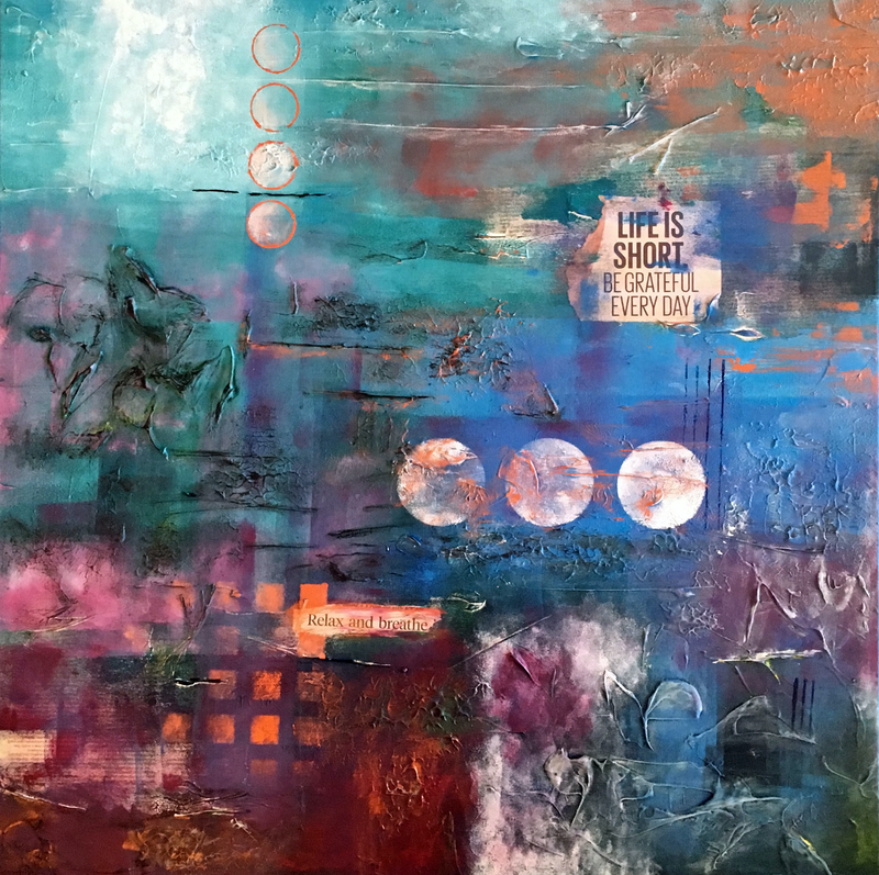 (CreativeWork) Breathe by Melanie Spehr. mixed-media. Shop online at Bluethumb.