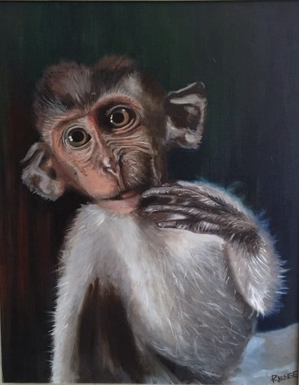(CreativeWork) Innocent possibilities  by Renee O'Brien. oil-painting. Shop online at Bluethumb.