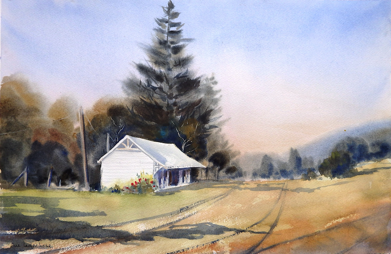 (CreativeWork) End of the Line by Sue Lederhose. watercolour. Shop online at Bluethumb.