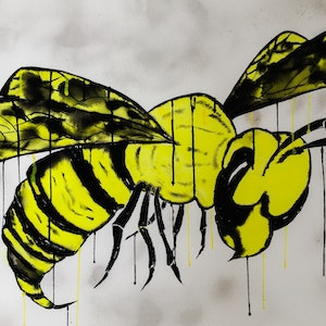 (CreativeWork) From The Hornets Nest II by Leith Kennedy. watercolour. Shop online at Bluethumb.