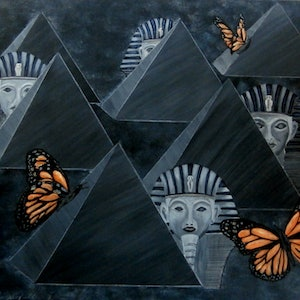 (CreativeWork) MONARCH by Lisa Dangerfield. arcylic-painting. Shop online at Bluethumb.