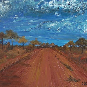 (CreativeWork) Are We Lost Again? by Wendy Steinberg. arcylic-painting. Shop online at Bluethumb.