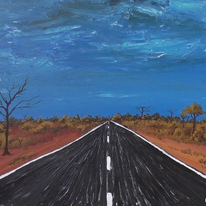(CreativeWork) Are We There Yet? by Wendy Steinberg. acrylic-painting. Shop online at Bluethumb.