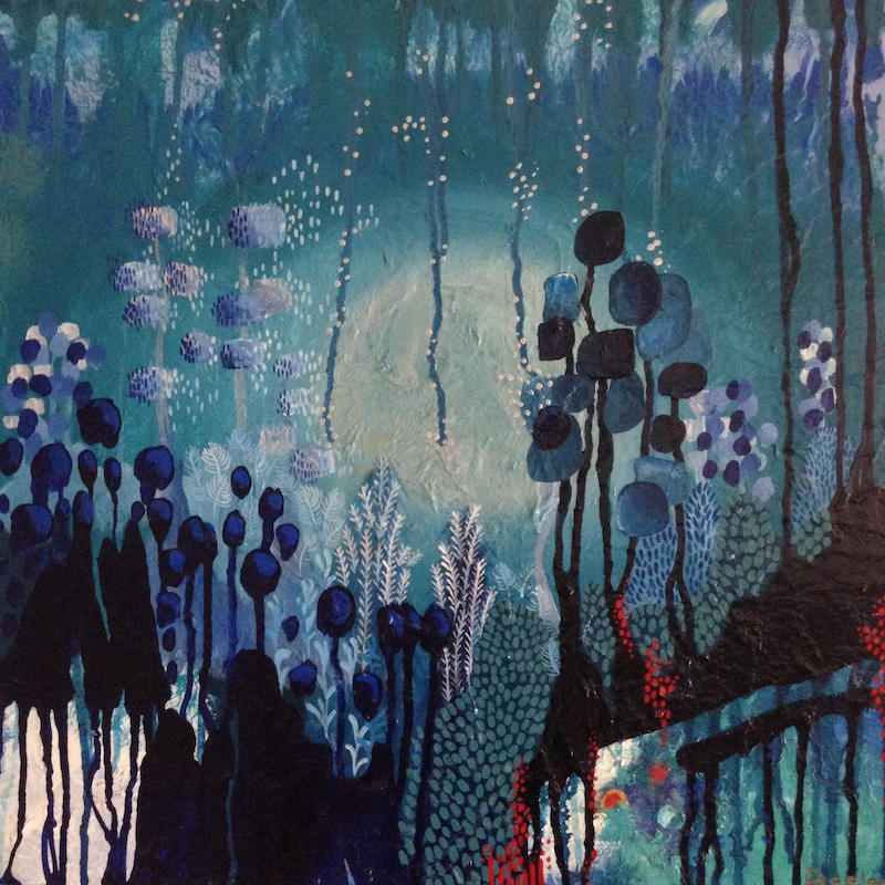 (CreativeWork) Winter Dream by Leah Doeland. mixed-media. Shop online at Bluethumb.