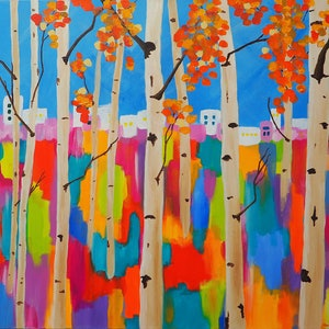 (CreativeWork) In Summer Bright by Pam Altschwager. arcylic-painting. Shop online at Bluethumb.