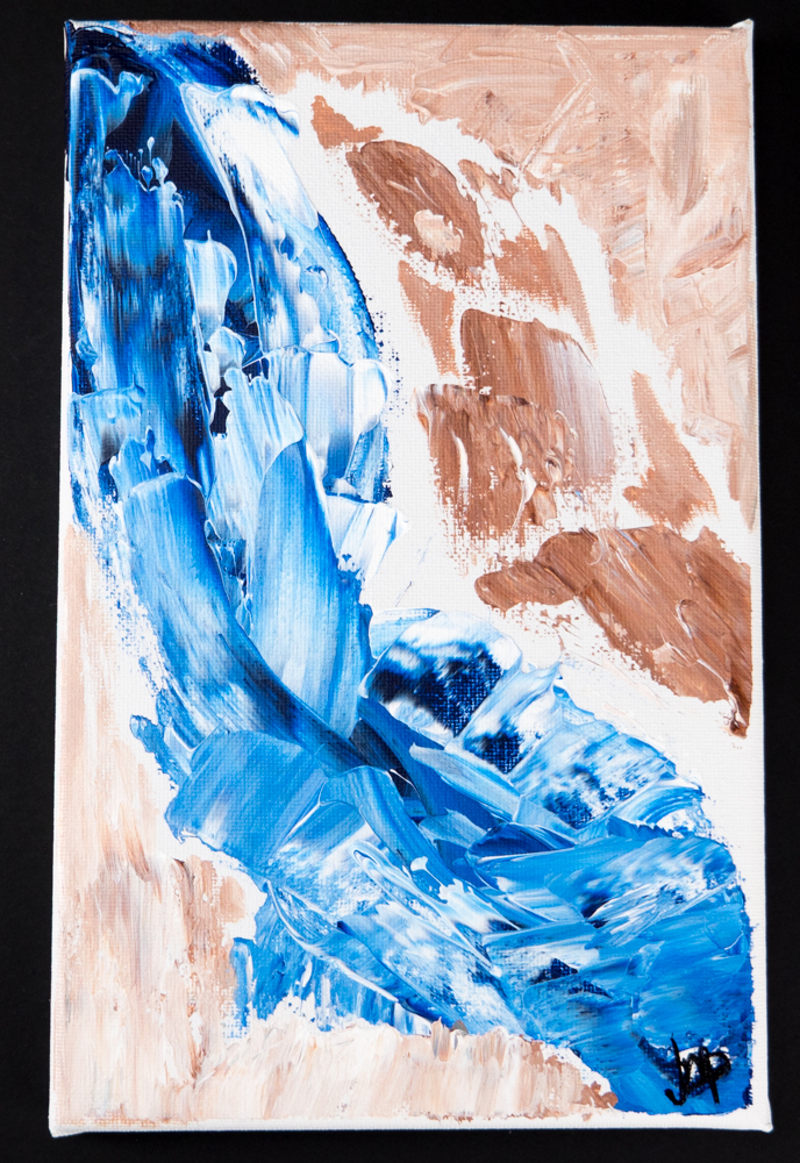 (CreativeWork) Rushing outback stream  by Jessica Pohlmann. arcylic-painting. Shop online at Bluethumb.