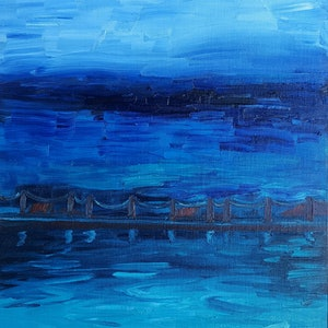 (CreativeWork)  Mahon Pool. by Jennifer Baird. oil-painting. Shop online at Bluethumb.