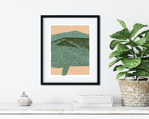 (CreativeWork) ETERNAL GROWTH LANDSCAPE PORTRAIT #1 -  Limited Edition Archival Print  - Ed. 1 / 100 by Julian Newman. Other Media. Shop online at Bluethumb.