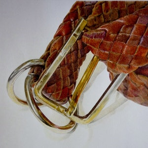 (CreativeWork) Belt Up by LINDA CAMAC. drawing. Shop online at Bluethumb.