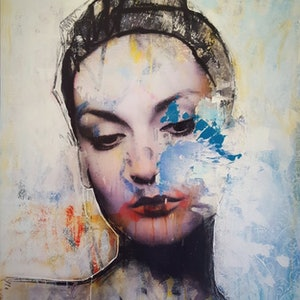 (CreativeWork) Bella Regina by Adam Craemer. mixed-media. Shop online at Bluethumb.