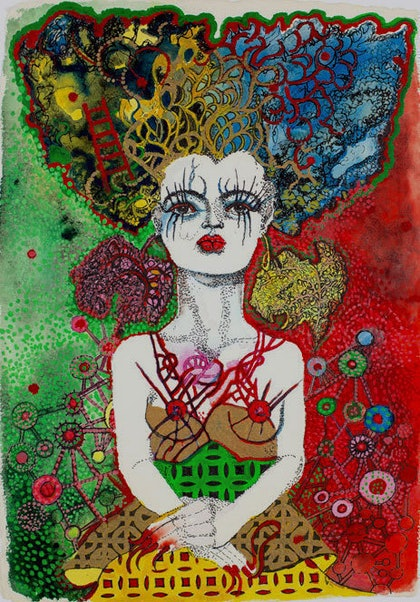 (CreativeWork) Broken Heart- available as a limited edition Giclee print.  Can be framed for an additional $120 by Annette Golden. print. Shop online at Bluethumb.