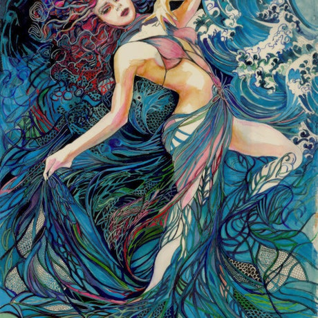 (CreativeWork) Spirit of the Waves- Limited Edition Glicee print for $550 Ed. 3 of 100 by Annette Golden. Print. Shop online at Bluethumb.
