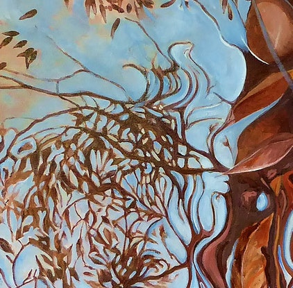 (CreativeWork) Creek Reflections #2 by Susan Skuse. Oil Paint. Shop online at Bluethumb.