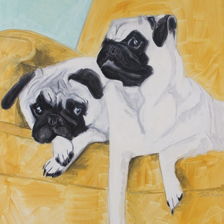 (CreativeWork) Waiting patiently by Carla Foster. Oil Paint. Shop online at Bluethumb.
