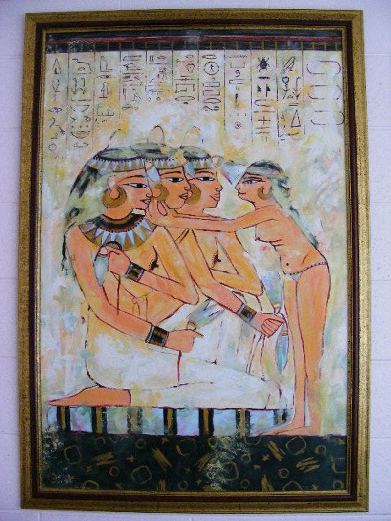 "(CreativeWork) ""Egyptian Mode"" by Daniela Selir. Acrylic Paint. Shop online at Bluethumb."