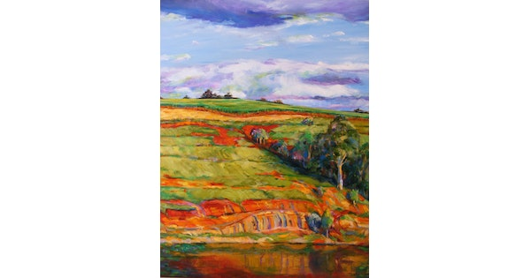 Looking Out My Front Door By Daniela Selir Paintings For Sale
