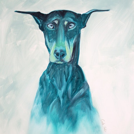 (CreativeWork) Frank by Carla Foster. Oil Paint. Shop online at Bluethumb.