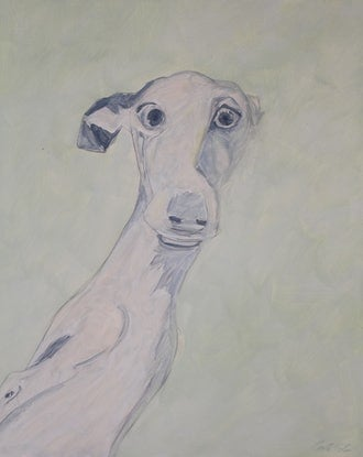 (CreativeWork) Claude by Carla Foster. Oil Paint. Shop online at Bluethumb.