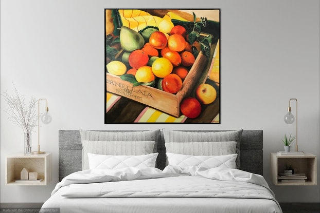 (CreativeWork) SCENES FROM THE LARDER 02 SUMMERFRUIT by LOUISE GROVE WIECHERS. Acrylic Paint. Shop online at Bluethumb.