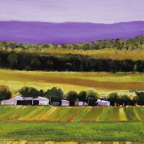 (CreativeWork) LANDSCAPE NEAR HARRISVILLE by LOUISE GROVE WIECHERS. Oil Paint. Shop online at Bluethumb.