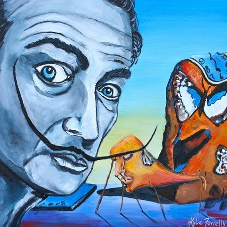 (CreativeWork) After Dali by Kylie Farrelly. Acrylic Paint. Shop online at Bluethumb.