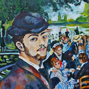 (CreativeWork) After Renoir by Kylie Farrelly. arcylic-painting. Shop online at Bluethumb.