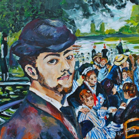 (CreativeWork) After Renoir by Kylie Farrelly. Acrylic Paint. Shop online at Bluethumb.