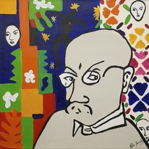 (CreativeWork) After Matisse by Kylie Farrelly. arcylic-painting. Shop online at Bluethumb.