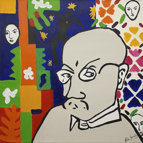 (CreativeWork) After Matisse by Kylie Farrelly. Acrylic Paint. Shop online at Bluethumb.