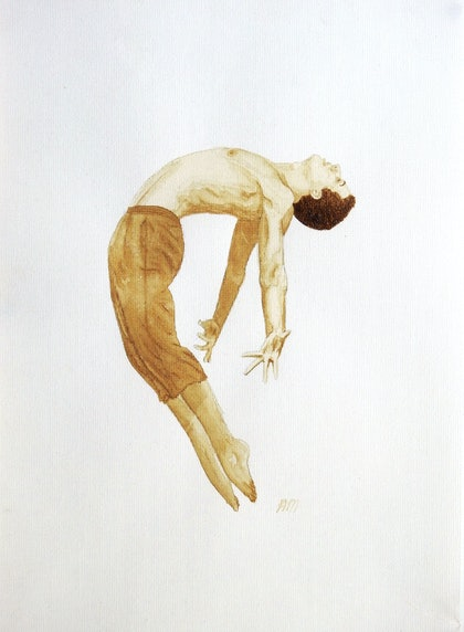 (CreativeWork) Ballerino De Café by Amy Mills. other-media. Shop online at Bluethumb.