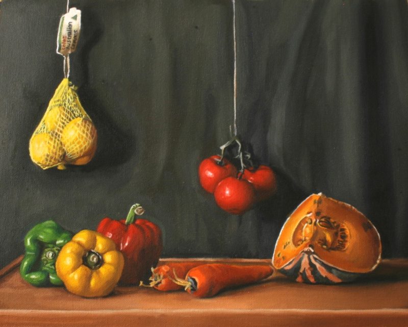 still life vegetables by angela parragi paintings for sale