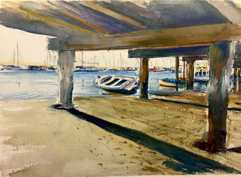 (CreativeWork) Rising Tide, Sandringham,Victoria by Geoff Stanistreet. watercolour. Shop online at Bluethumb.