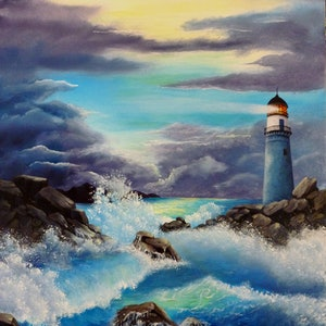 (CreativeWork) STORMY SEAS by Debra Dickson. arcylic-painting. Shop online at Bluethumb.