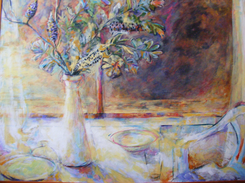 """(CreativeWork) """"A Banksia Moment"""" by Daniela Selir. acrylic-painting. Shop online at Bluethumb."""