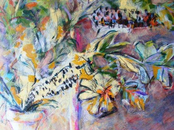 "(CreativeWork) ""A Banksia Moment"" by Daniela Selir. Acrylic Paint. Shop online at Bluethumb."