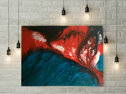 (CreativeWork) Eruption by Felicity Moore. resin. Shop online at Bluethumb.
