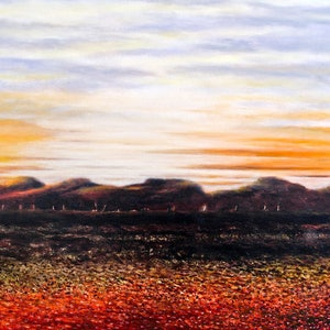 (CreativeWork) OUTBACK LANDSCAPE by LOUISE GROVE WIECHERS. arcylic-painting. Shop online at Bluethumb.