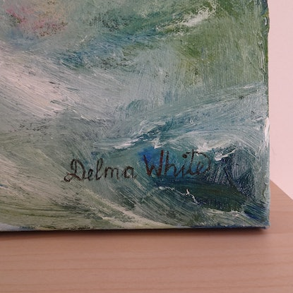 (CreativeWork) Winter Green by Delma White. Oil Paint. Shop online at Bluethumb.