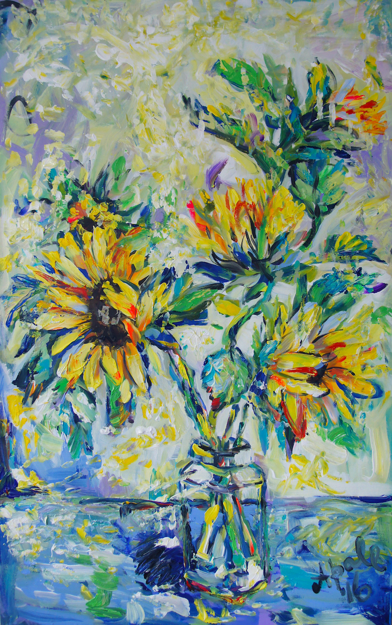 Sunflowers By Katerina Apale Paintings For Sale