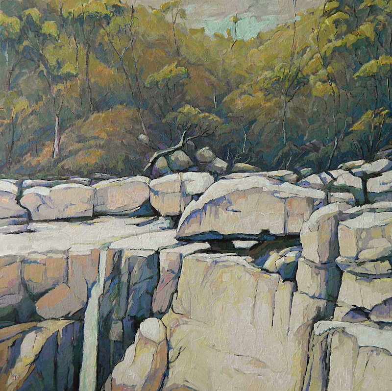 (CreativeWork) Carrington Falls by Mac Monks. arcylic-painting. Shop online at Bluethumb.