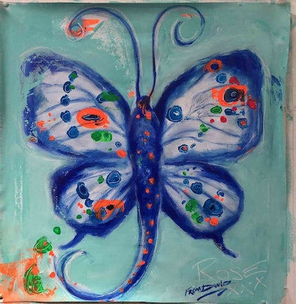 (CreativeWork) Butterflys are free by David White. mixed-media. Shop online at Bluethumb.