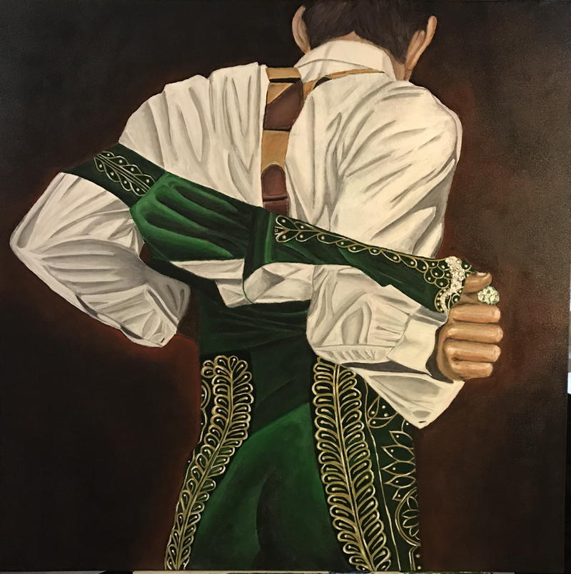 "(CreativeWork) Matador ""El Chaleco"" by Javi Sanchez. arcylic-painting. Shop online at Bluethumb."