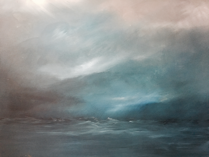(CreativeWork) When The Storm Left | 'Of 'Scapes' Series by Etre Britta. arcylic-painting. Shop online at Bluethumb.