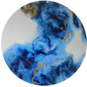 (CreativeWork) Glacial by Larissa Lea. resin. Shop online at Bluethumb.