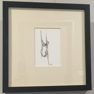 (CreativeWork) If - Framed Original Published Archival Pigment Ink Drawing by Kylie Fogarty. drawing. Shop online at Bluethumb.