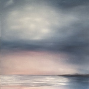 (CreativeWork) Fleeting Tides by Annabelle Brockman. oil-painting. Shop online at Bluethumb.