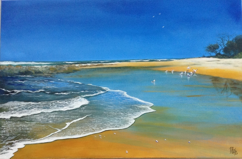 """(CreativeWork) """"TRANQUILLITY"""" by Toni Lucas. arcylic-painting. Shop online at Bluethumb."""