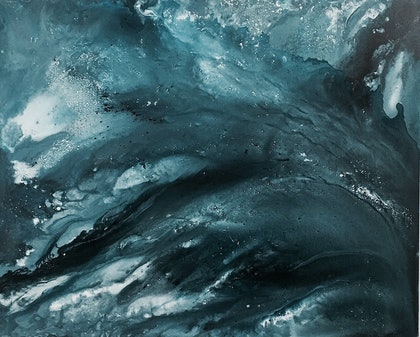 (CreativeWork) Silence Is An Ocean, Speech is A River   'Ocean' Series by Etre Britta. arcylic-painting. Shop online at Bluethumb.