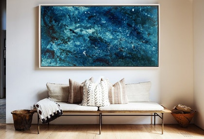 (CreativeWork) 'Pacific'   Ocean' Series by Etre Britta. resin. Shop online at Bluethumb.