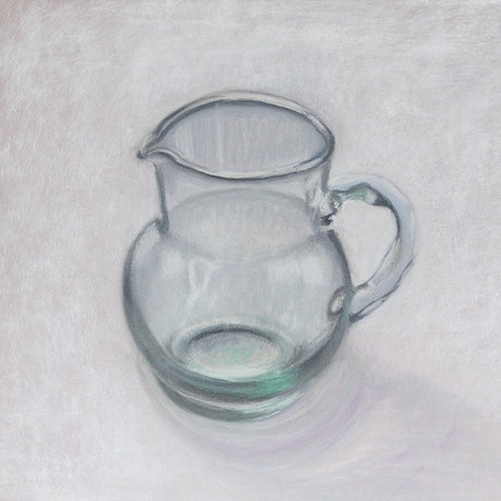 (CreativeWork) Still Life 1 - Glass Vase by Ishbel Morag Miller. Drawings. Shop online at Bluethumb.